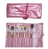 cepillos rosados del maquillaje del caso 12PCS/cepillos del Facial para el recorrido
