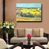 Het in het groot Met de hand gemaakte Olieverfschilderij van het Landschap van het Landschap van de Herfst op Canvas