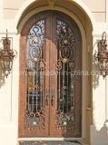 Portas de entrada decorativas extravagantes do ferro do projeto