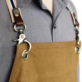 Grembiule incerato durevole della parte posteriore della traversa della tela di canapa di qualità Premium per il commercio all'ingrosso dell'artigiano