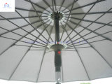 9ftの18ribsガラスファイバーUmbrella Hand Push Umbrella Outdoor Umbrella Beach Umbrella Parasol