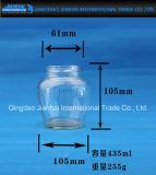 Glas des Stau-200ml-600ml für Gewürz, Glasflasche und Honig-Flasche