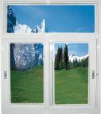 Moderner Entwurfs-schiebendes Aluminiumfenster mit Doppelverglasung-ausgeglichenes Glas-und Moskito-Netz