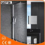 Robinet thermostatique à levier unique de douche de forme carrée en laiton