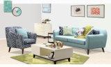 Sofá moderno de la tela del color azul, muebles del hogar del diseño simple (M617)