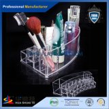 創造的なデザインふたの構成のブラシのオルガナイザーが付いているプラスチックアクリルのディスプレイ・ケース