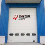 Сбывания изолировали электрическую секционную высокоскоростную промышленную надземную дверь гаража