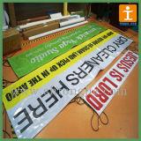 Banner al aire libre Hemed con Eyelets y Ropes
