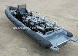 Barco inflável rígido militar do barco de Aqualand 30feet 9m/patrulha do reforço (RIB900B)