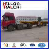 China Made Flatbed Type 40FT Tri-Axle Semi Trailer