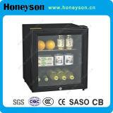 Refrigerador de la barra de la pequeña puerta de cristal del hotel mini
