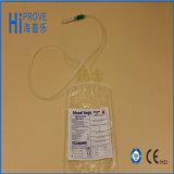 Sacola descartável esterilizada médica de recolha de sangue de PVC