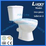 Prix bon marché de toilette en deux pièces en céramique de salle de bains