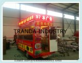 De Mobiele Vrachtwagen van de Hotdog van de Stijl van de straat met Wielen voor Verkoop