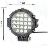Epistar LED de trabajo de luz 63W 7 pulgadas