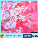 Польностью ткань одежды качества равнины рейона флористического платья