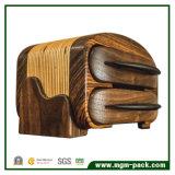 Armazenamento luxuoso feito-à-medida do presente que empacota a caixa de madeira