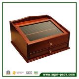 Casella di legno della penna della lacca di alta qualità con il cassetto