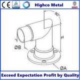 Borde del montaje de la base del acero inoxidable para la barandilla y la barandilla del pasamano