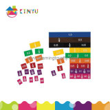 De Staven van het Stuk speelgoed van de Wiskunde van het onderwijs en van de Fractie van Producten en Decimale Tegels (K048)