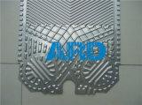 Placa de intercambiador de placas Alfa Laval M6 chapas de acero inoxidable de titanio