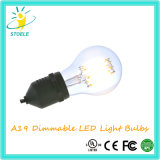 Het Gloeiende Licht van de Bollen van Stoele A19/A60 Edison LED