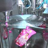 2000 máquinas de rellenar echadas en chorro laterales de la bolsa del ml para el líquido de lavado