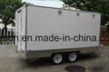 chariots mobiles électriques de réchauffeur de nourriture de fibre de verre de 3.9m à vendre