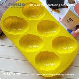 Sechs Silikon-Gummi-Form der Ei-Form-32*19*3cm
