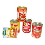 uma variedade de tipos para a pasta de tomate enlatada costume 400g