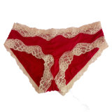 OEM обслуживает нижнее белье Panty шнурка женщин шикарного цветка сетки сексуальное
