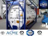 23000L 20FT Koolstofstaal 4 Container van de Tank van het Cement van de Druk van de Staaf de Bulk