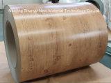 Bobina de acero galvanizada con el modelo de madera para la decoración