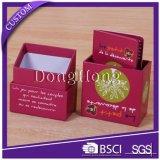 Коробка твердого бумажного подарка упаковывая с карточками и регистром