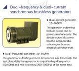 400Hz dupla moeda Synclonous Brushless AC DC 20-500kw Alternador