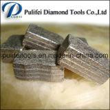 Diferente polvo Formula Saw segmento de cuchilla diamante para el corte de piedra