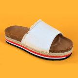 Cadute di vibrazione bianche delle più nuove di modo scarpe di tela causali della tela di canapa