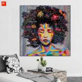 Modern Pop Black Women Portrait Oil Painting on Canvas Print
