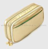 Sac cosmétique imperméable à l'eau portatif durable d'or de sac de renivellement de matériau et de tirette d'usine