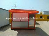 Café móvil conveniente del envase/barra prefabricados de la vida útil larga/casa prefabricada modificados