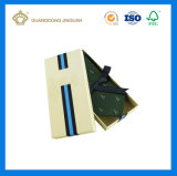Rectángulos de empaquetado de la pajarita del regalo de papel negro de lujo de encargo del rectángulo (con insignia de encargo)