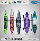 Le plastique simple de matériau de coque de LLDPE se reposent sur le premier kayak de pêche