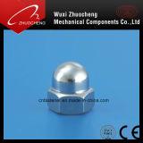 DIN1587炭素鋼の黒の半球形のキャップナット