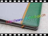 ゴムひもの閉鎖のDoumentのホールダーが付いている中国PU日記のホールダー