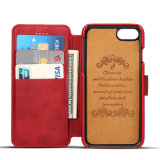 Caixa do couro da aleta da carteira da ranhura para cartão para o iPhone 7/6s/6