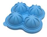 Bandeja de categoría alimenticia del molde del hielo del silicón de la novedad con capacidad de la bola de 4 de x 4.5 cm