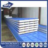 De 50 mm / 75 mm / 100 mm EPS / Panel Sandwich lana de vidrio / Rockwool / PU Foam
