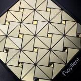 [رولّنت] هندسيّة فضّيّة ذهبيّة [موسيك تيل] زخرفة داخليّة بينيّة [ولّستيكر]