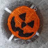 공장에 의하여 주문을 받아서 만들어지는 Halloween 휴일 호박 훈장 빛
