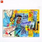 Nueva pintura al óleo del hombre negro de la historieta del cuadro de la pared de la pintada